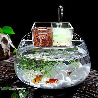 Aquário multifuncional Tanque de peixes com caixa de filtro externo sem bomba de água M