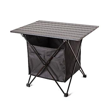 Outdoor Folding Portable Picnic Camping Table Aluminum Roll-up Table