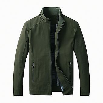 Mile Men's Lightweight Cotton Jacket Outdoor Windbreaker Coat Classic Full-zip Jackets Stand Collar Jackets