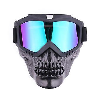 Masque de lunettes de crâne cool extérieur