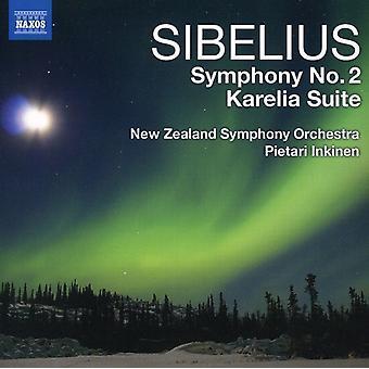 J. Sibelius - Sibelius: Symphony No. 2; Karelia Suite [CD] USA import