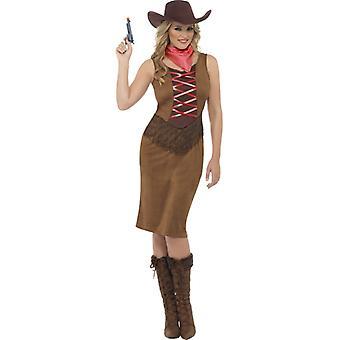 Vaqueira vestido senhoras Western Cowgirl couro olha vaqueiro