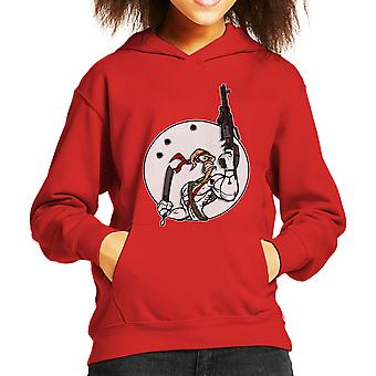 Battle Worm Earthworm Jim Kid's Hooded Sweatshirt