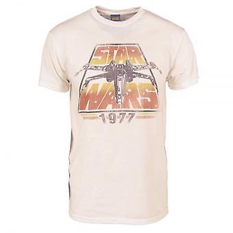 Mens Retro Star Wars Guerre stellari X-Wing 1977 t-shirt