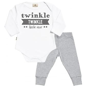Verwend rotte Twinkle Twinkle Little Star Babygrow & Baby Jersey-broek Outfit Set