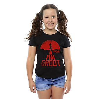 Marvel Girls Guardians Of The Galaxy I Am Groot Red T-Shirt
