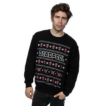 آعجوبة شعار Deadpool البلوز للرجال عيد الميلاد