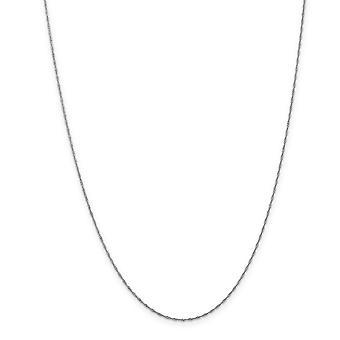 14k valkoinen kulta vankka jousirengas kimallus leikata 1mm Singapore ketjun kaulakoru - pituus: 14-30