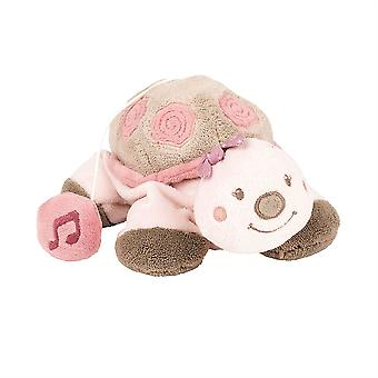 Nattou Nina, Jade & Lili- Musical Lili The Turtle soft toy