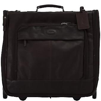 Ashwood Mayfair Wheeled Suit Carrier In Colombian Leather