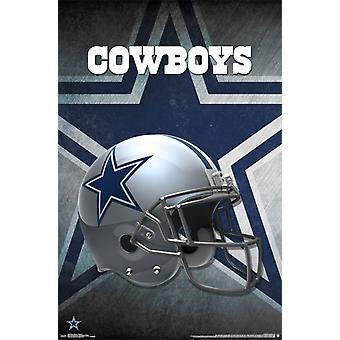 Dallas Cowboys - Helm 16 Poster drucken
