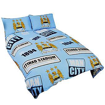 Manchester City FC officielle Patch fodbold Crest dynebetræk sengetøj sæt