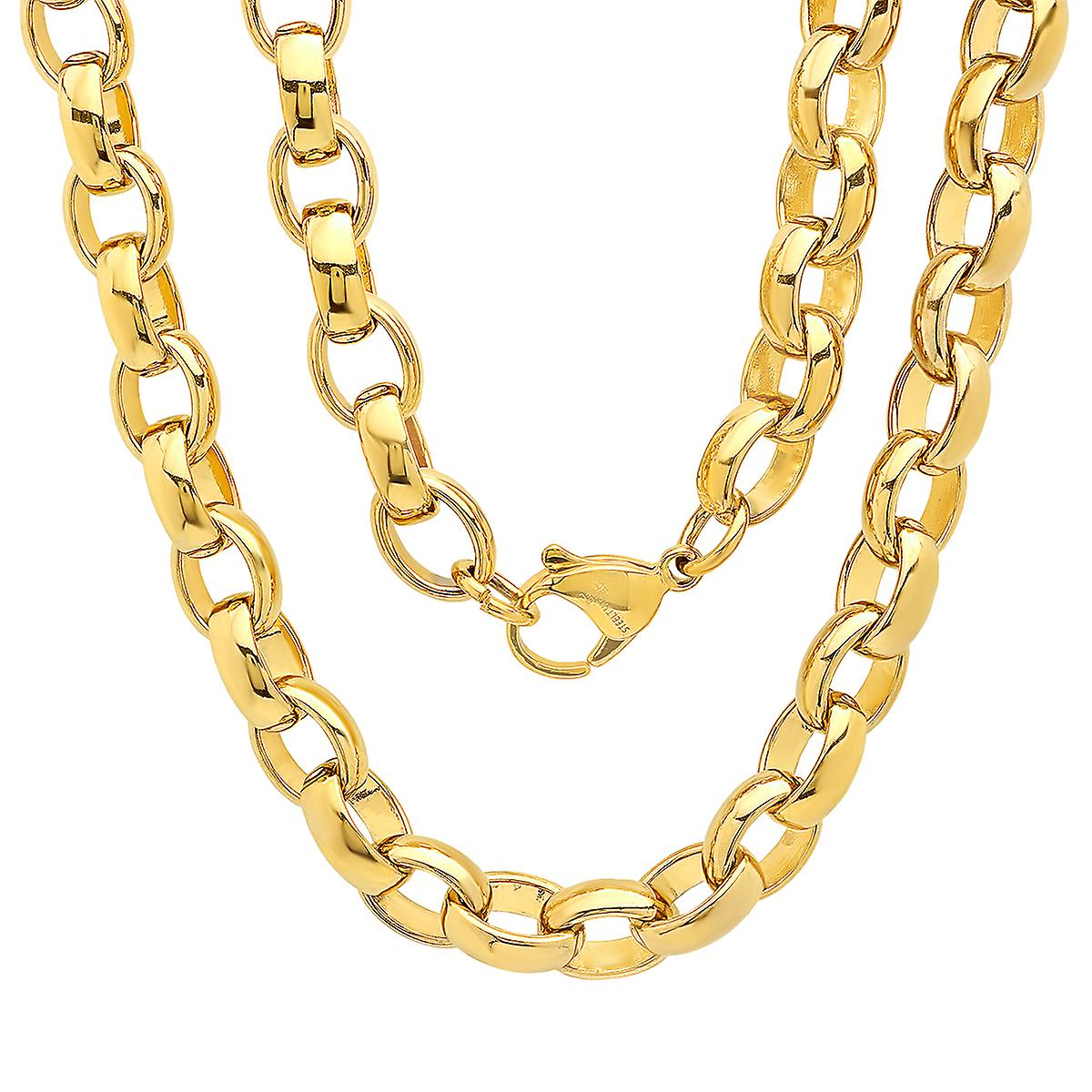 Ladies 18K Gold Plated Stainless Steel Chain Link Necklace