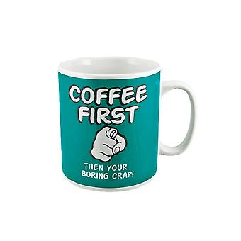 Coffee First Giant Coffee Mug