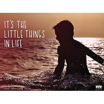 It's The Little Things In Life Poster Inspirational Wall Print (24x18)