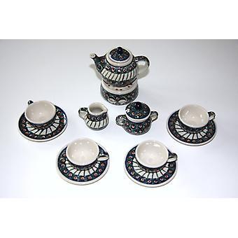 Puppenservice komplett, 4 Gedecke, Kanne Stövchen, Milch, Zucker, Tradition 1, BSN m-1888