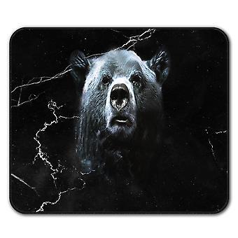 野生動物のクマ獣ノンスリップ マウス マット パッド 24 × 20 cm |Wellcoda