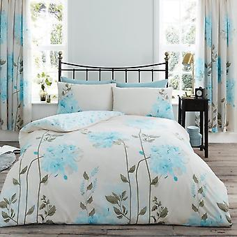 Camila Flower Duvet Quilt Cover Polycotton Floral Printed Bedding Set