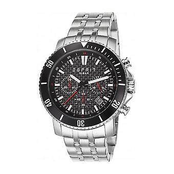 Esprit Herren Uhr Armbanduhr Barstow Edelstahl Chrono ES106861003