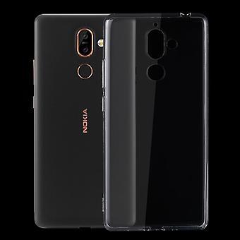 Silikoncase transparant 0.3 mm ultra dunne geval voor Nokia 7 plus zak cover nieuwe