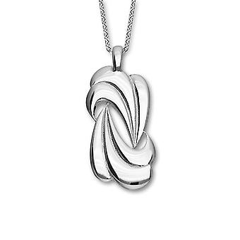 Sterling Silver Traditional Scottish Trendy Twirls Hand Crafted Necklace Pendant - P1106