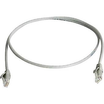 Telegärtner RJ45 L00001A0228 Network cable, patch cable CAT 6 U/UTP 2.00 m Grey Flame-retardant, Halogen-free