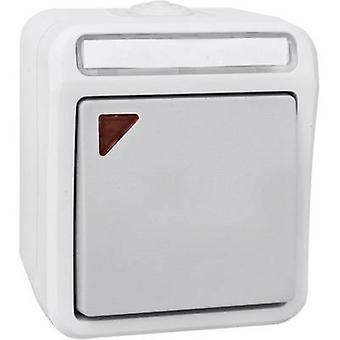 Peranova 102450 Wet room switch product range Toggle switch Pera Light grey, Dark grey