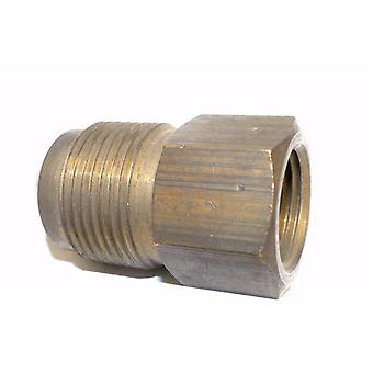 "Big A Service Line 3-14692 Brass Flare Female Connector 3/4"" x 1/2"""