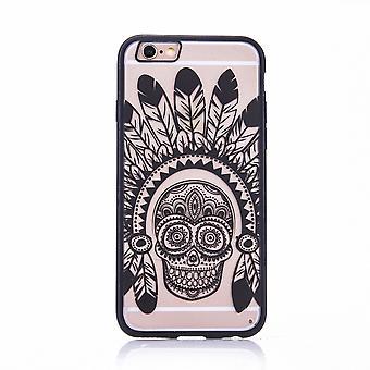 Mobile Shell mandala for Samsung Galaxy S6 design case cover motif Springs skull cover bumper black