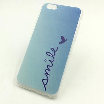 Caja del teléfono celular para el iPhone de Apple 6 / 6s sonrisa Blau bolso caso cubierta + 1 x tanque de cristal de protección