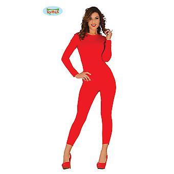 Elastischer Ganzkörperanzug in Rot für Damen Overall Unterwäsche