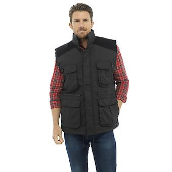 Tom Franks Mens Country Clothing Padded Bodywarmer - Black - L