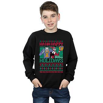 DC Comics Jungen Joker und Harley Quinn Ha Ha Frohe Festtage Sweatshirt