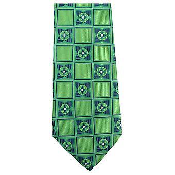 Knightsbridge Neckwear Square Flower Tie - Green/Navy