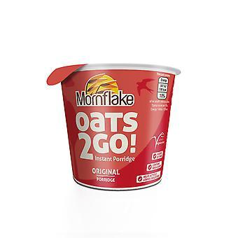 Mornflake Oats 2 Go Original Porridge Pots