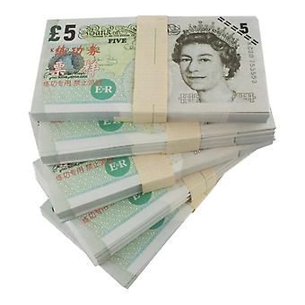 Play money-£5 (100 banknotes)
