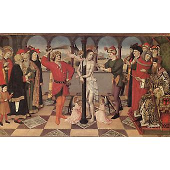 The Flagellation The Four Symbols of the Evangelists, Jaime Huguet