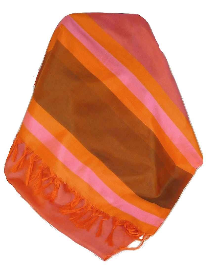 Varanasi Border Prime Silk Long Scarf Heritage Ganguly 901 by Pashmina & Silk