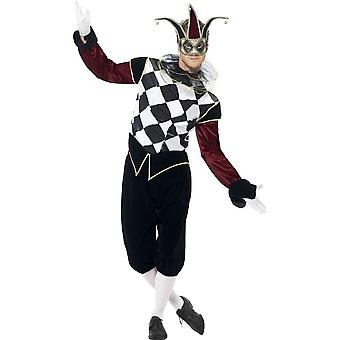 Gothic Venetian Harlequin Costume, Chest 38