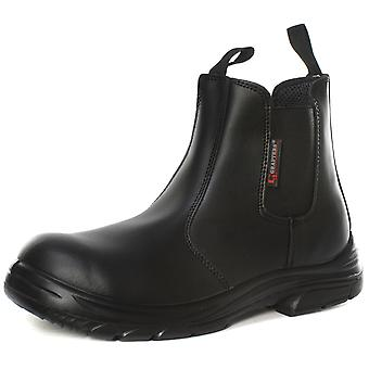 Grafters M9502A Mens Super Wide Extra Fit Safety Dealer Boots