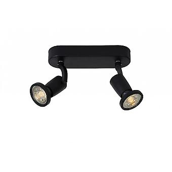 Lucide Jaster-moderno Oval Metal negro techo LED luz del punto