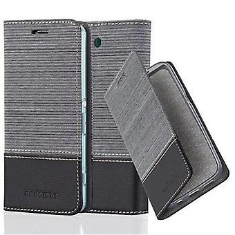 Cadorabo Hülle für Sony Xperia Z3 COMPACT Case Cover - Handyhülle mit Magnetverschluss, Standfunktion und Kartenfach – Case Cover Schutzhülle Etui Tasche Book Klapp Style
