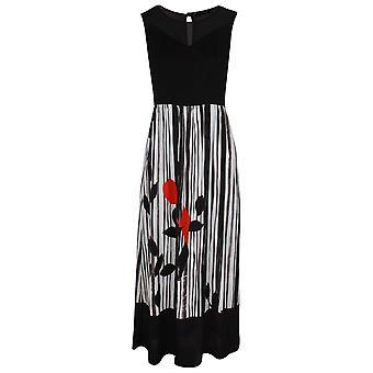 Latte Sleeveless Sheer Bodice Maxi Dress