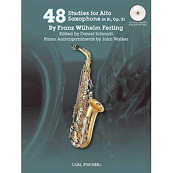 48 Studies for the Alto Saxophone in Eb, Op. 31 (Book & CD)