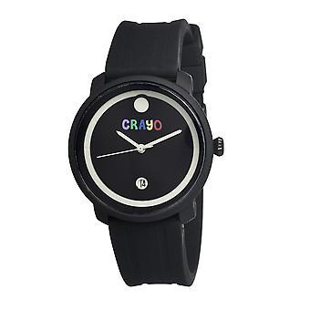 Fär färska könsneutrala Watch w/datum - svart