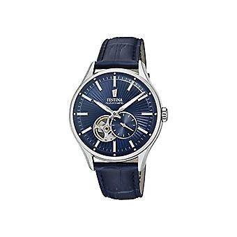 Festina watch Analog automatic men's watch with leather F16975-2
