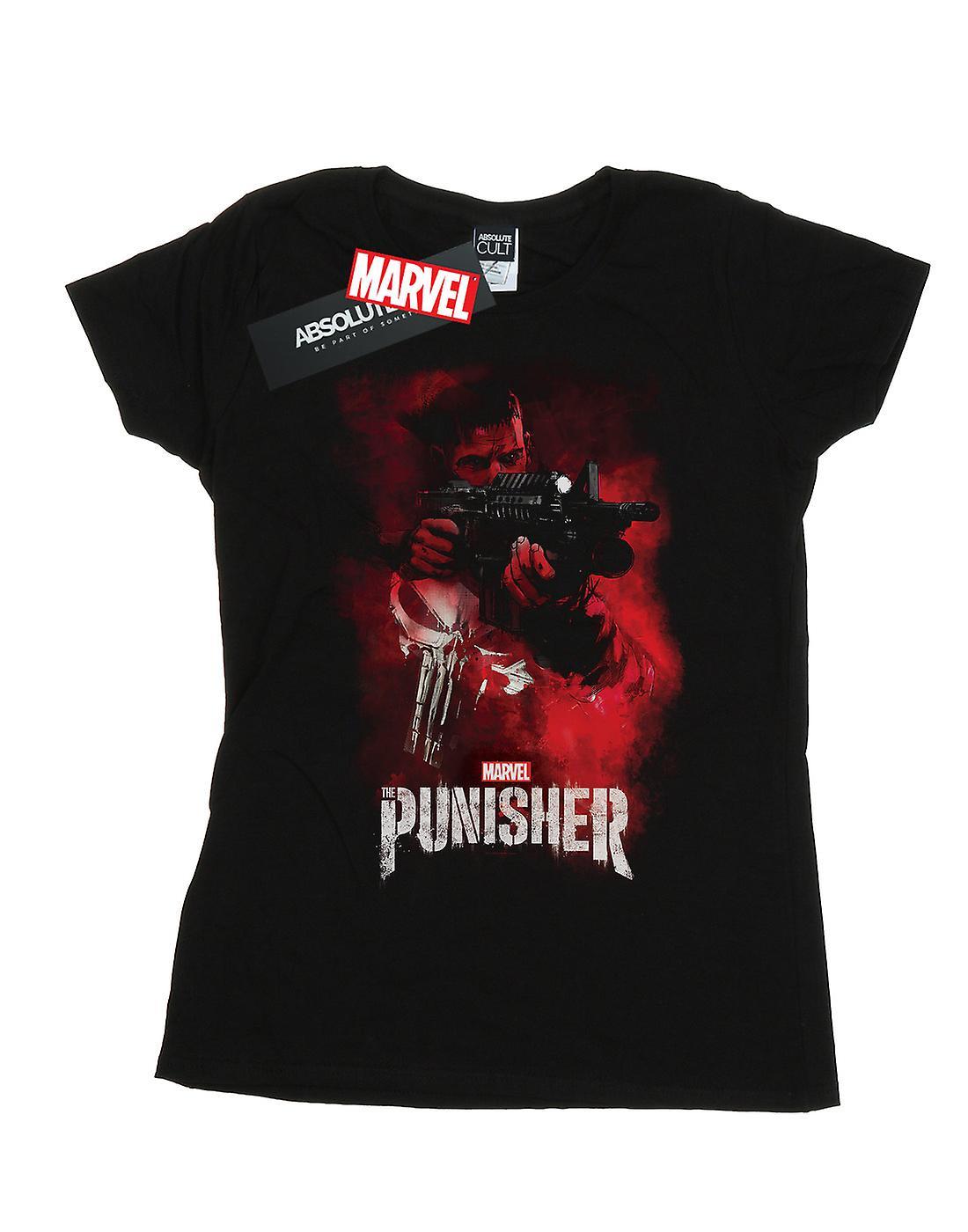 Marvel Women's The Punisher TV Series Red Smoke T-Shirt