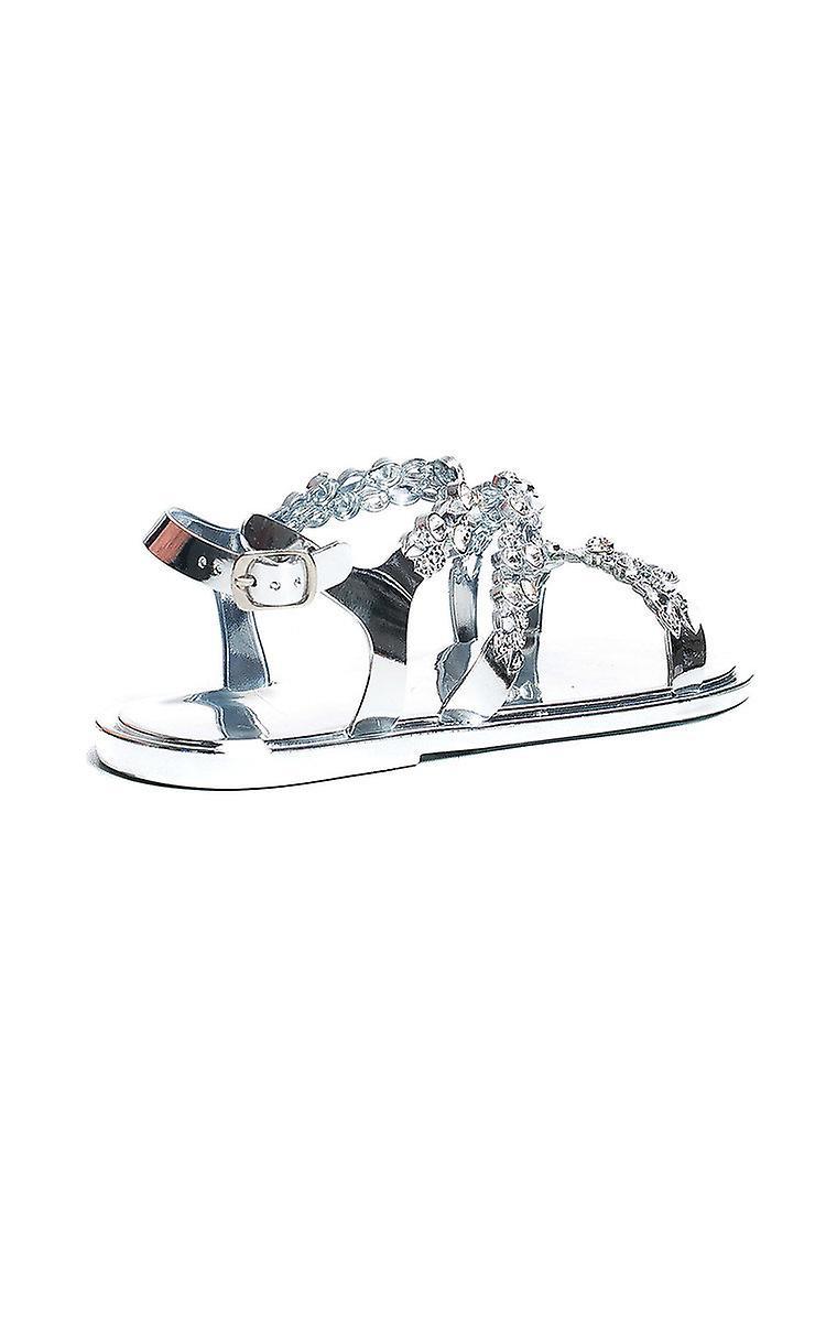 IKRUSH Womens Pia Metallic Diamante Strappy Sandals