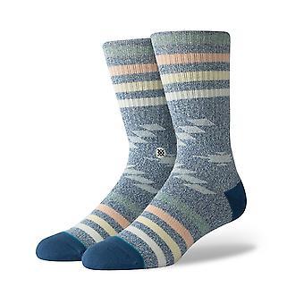 Stance Hitch Hiker Crew Socks in Navy