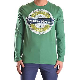 Frankie Morello Ezbc167041 Men's Suéter de Algodão Verde